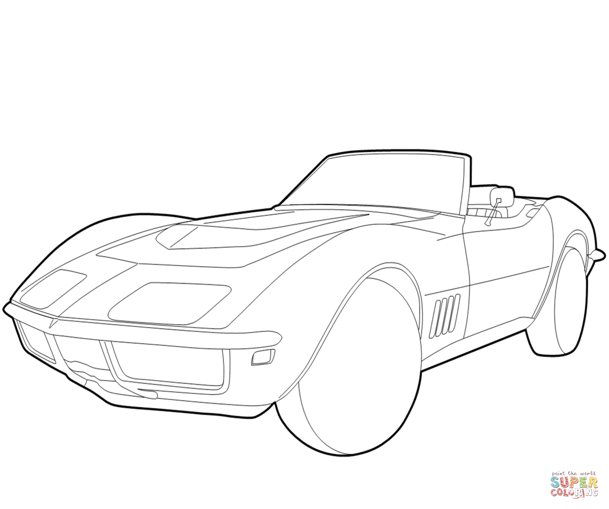 Chevrolet Corvette Coloring Page
