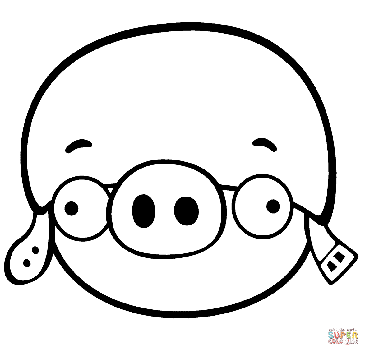 Corporal Pig Coloring Page