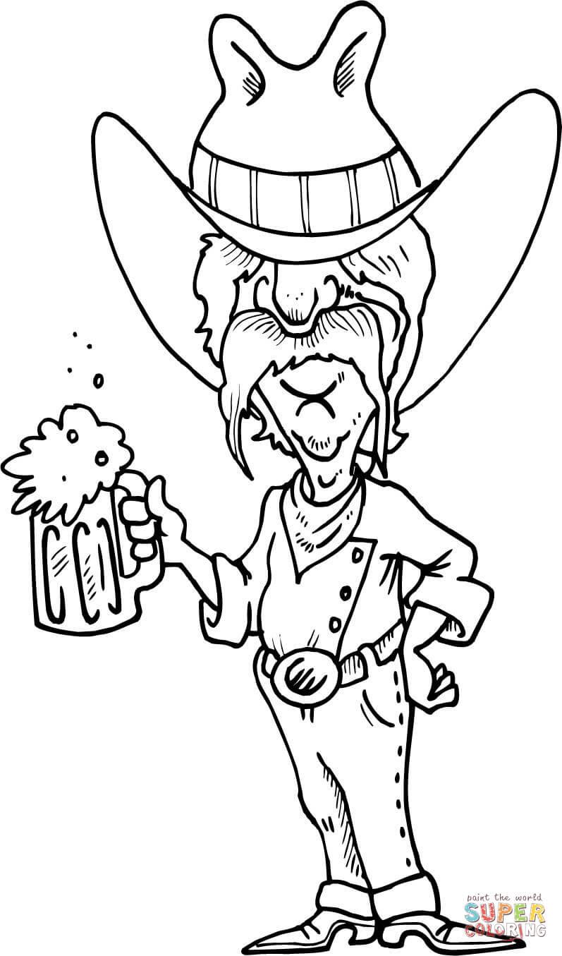 cowboy  a mug coloring page  free printable coloring