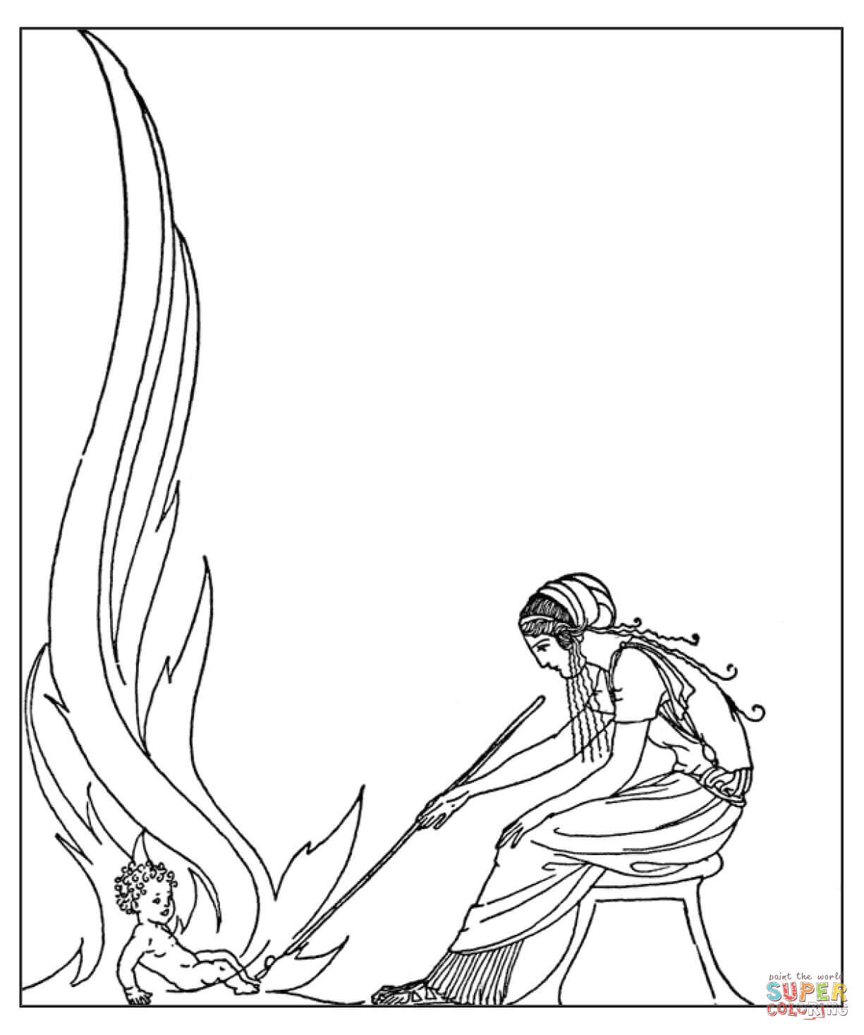 Demeter And Demophon Coloring Page