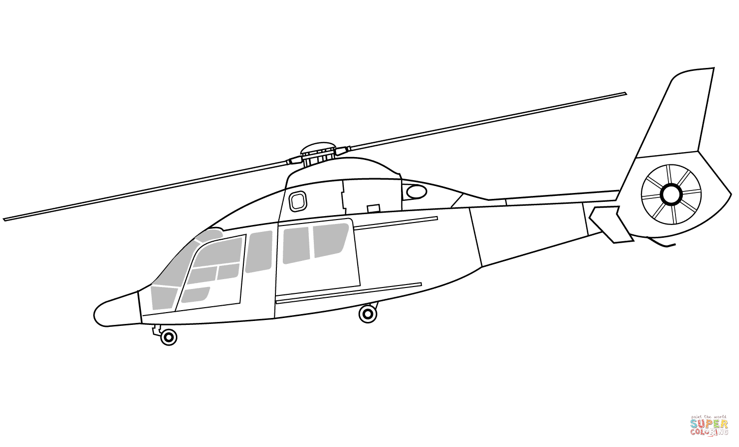 Eurocopter Ec155 Rescue Helicopter Coloring Page