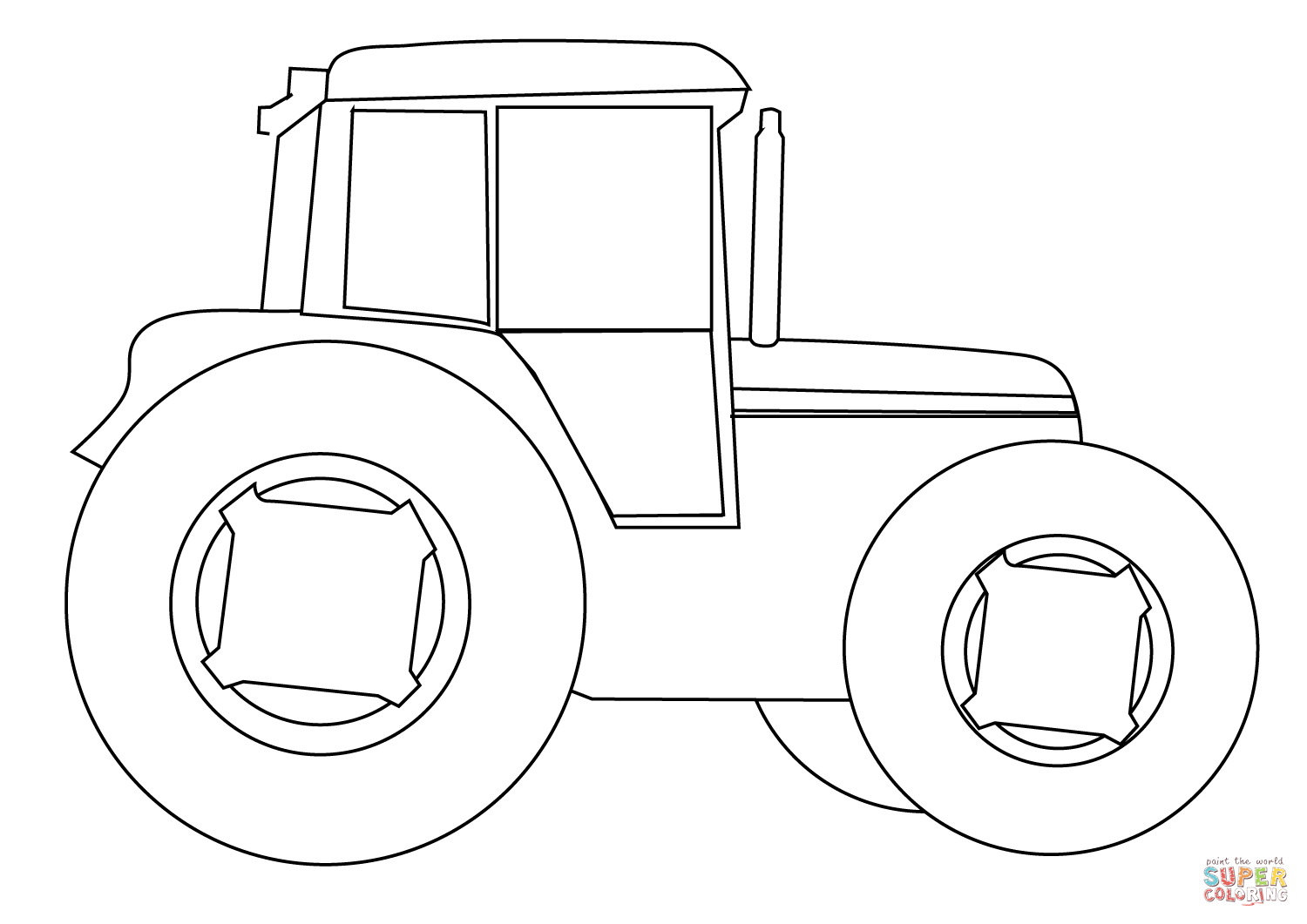 Farm Tractor Coloring Page