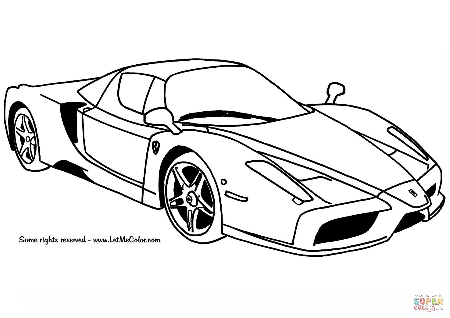 10 Disegno Ferrari Da Colorare E Stampare
