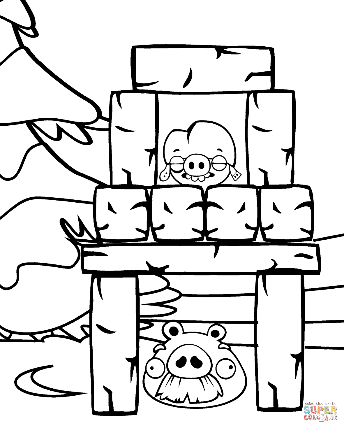 Foreman And Corporal Pig Coloring Page