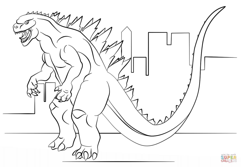 Godzilla Coloriage