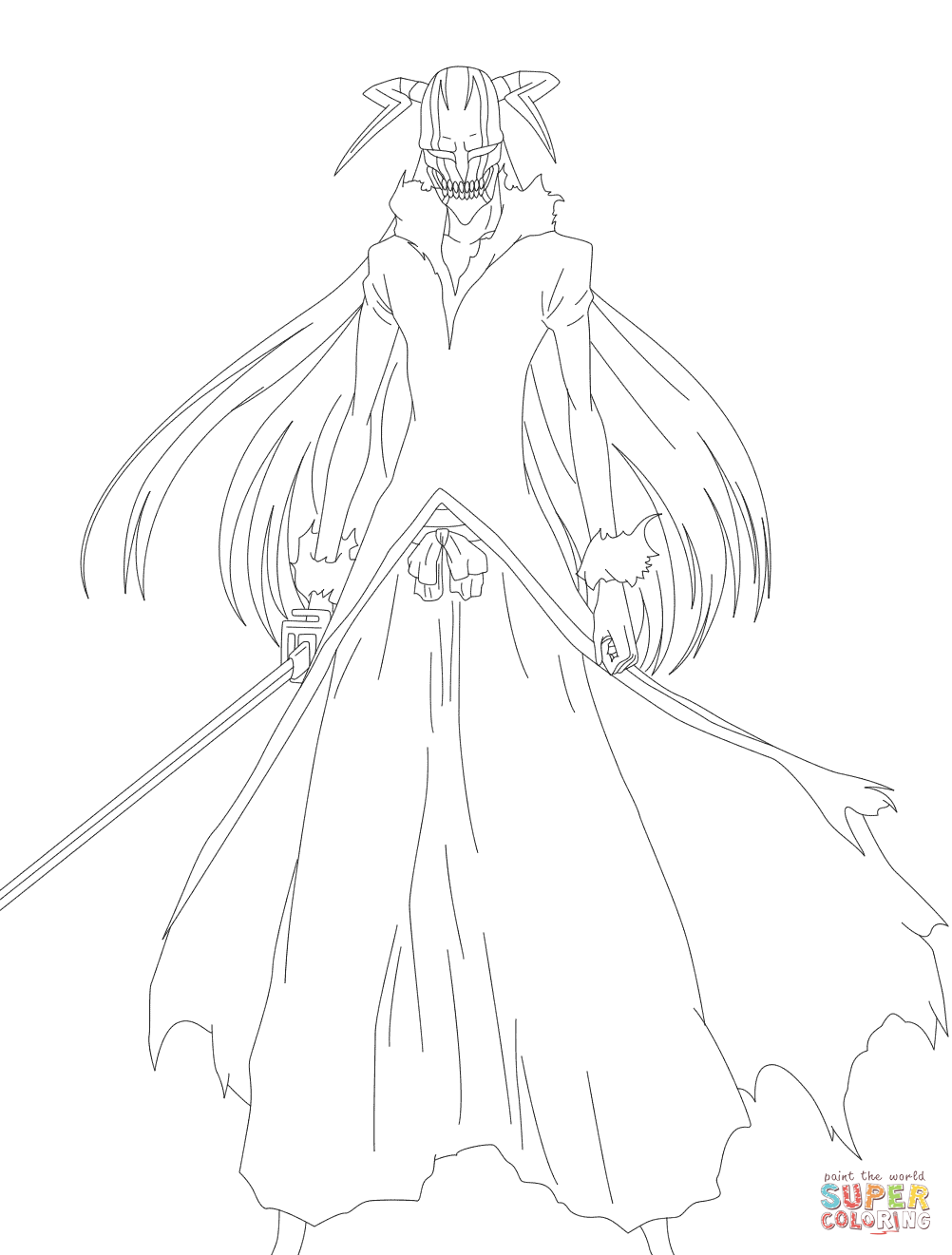 Hollow Ichigo Coloring Page Free Printable Coloring Pages