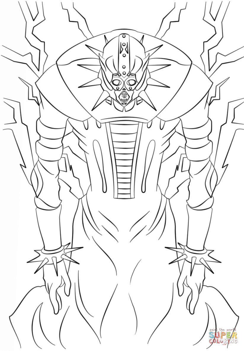Jinzo From Yu Gi Oh Coloring Page Free Printable Coloring Pages