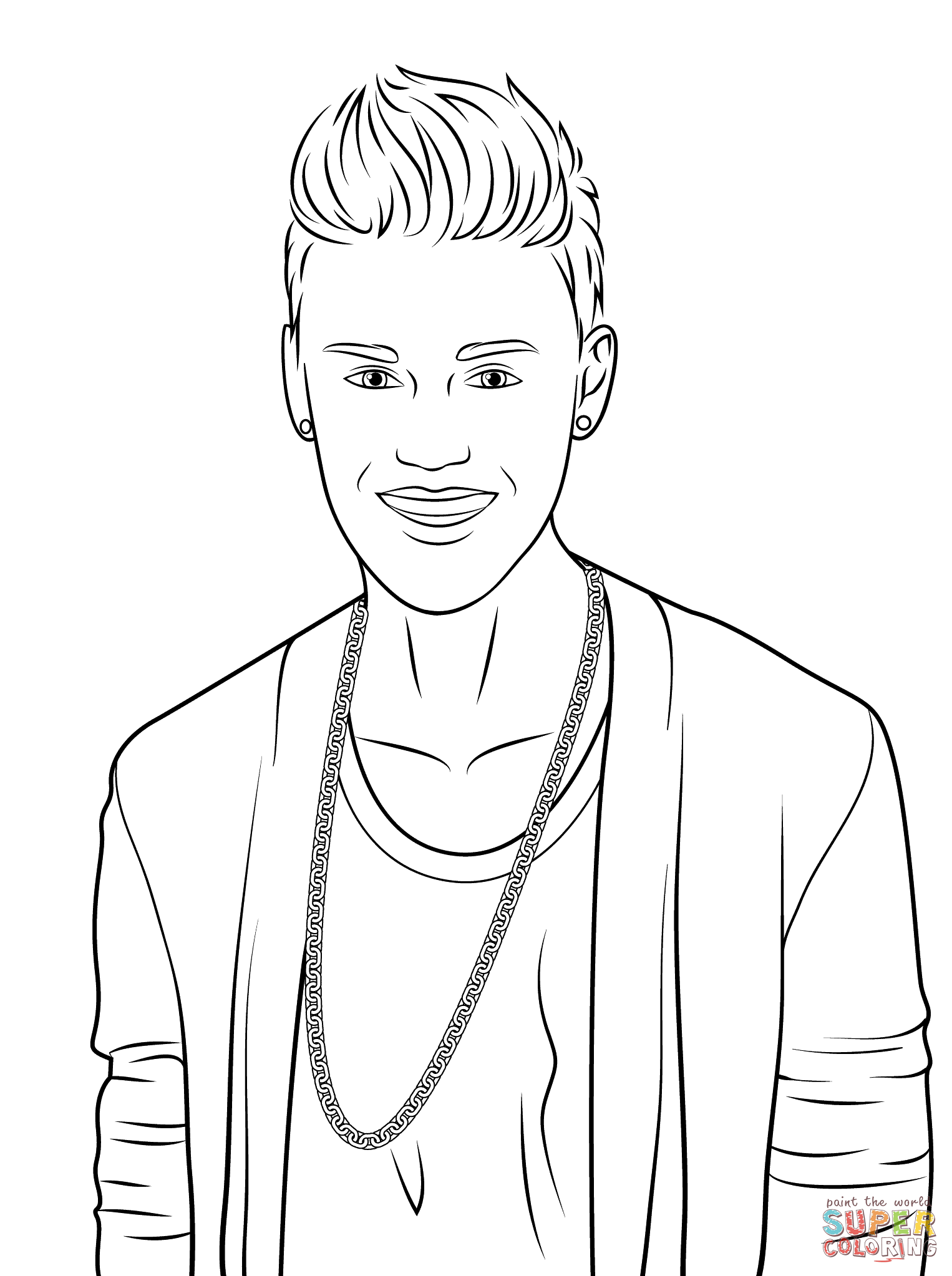 Justin Bieber Coloring Page Free Printable Coloring Pages