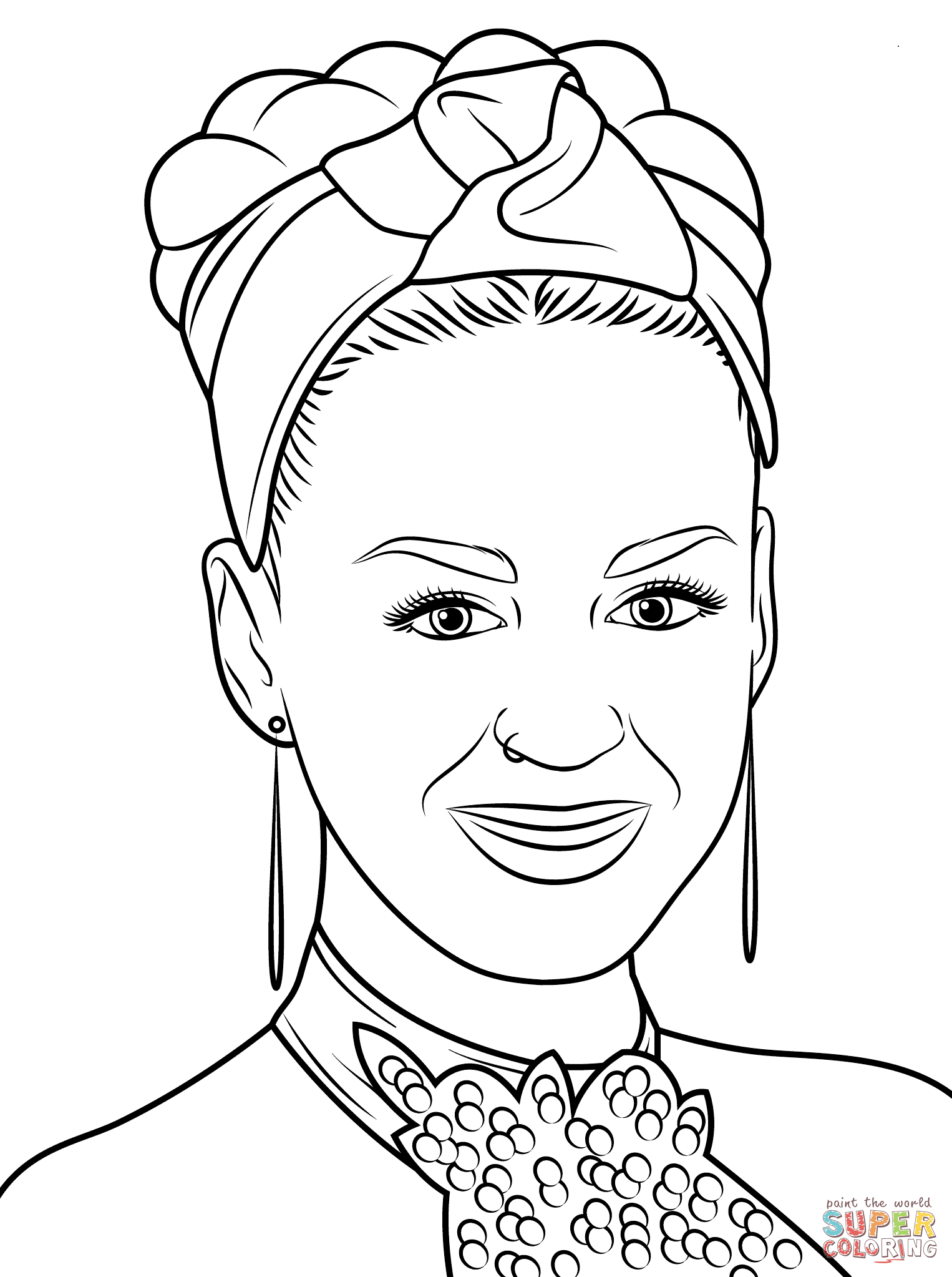 Katy Perry Coloring Page