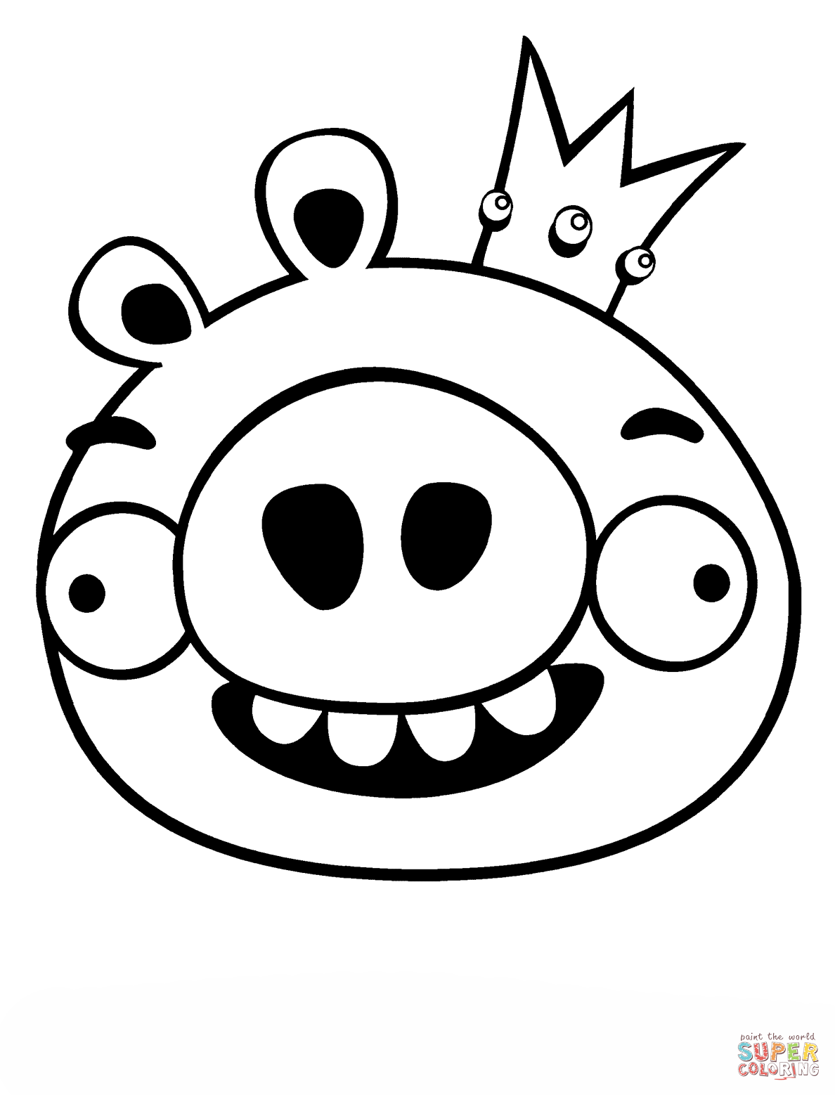 King Pig Coloring Page Free Printable Coloring Pages