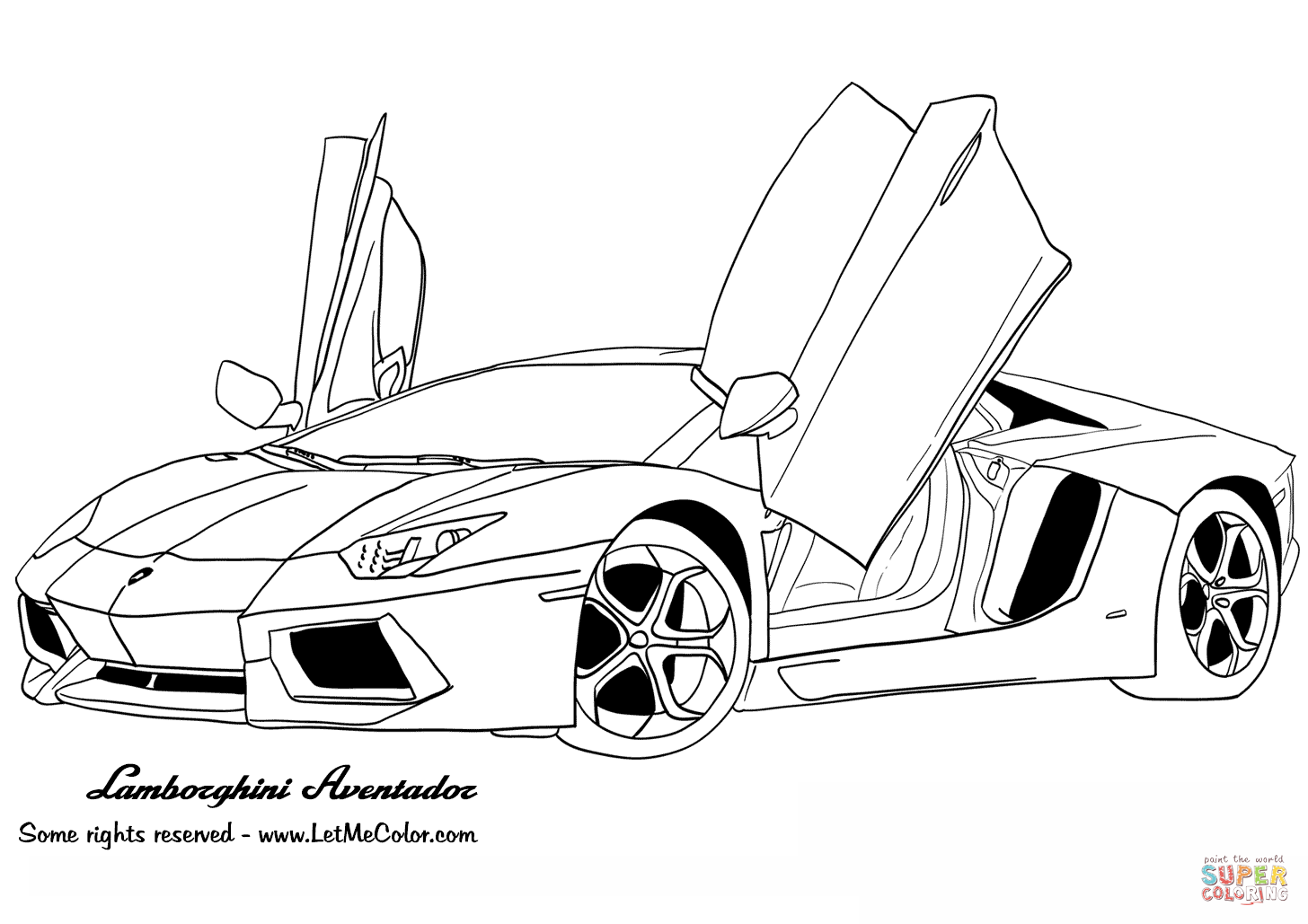 Lamborghini Aventador Coloring Page Free Printable Coloring Pages