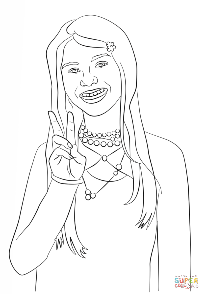 Lola Martinez From Zoey 101 Coloring Page Free Printable