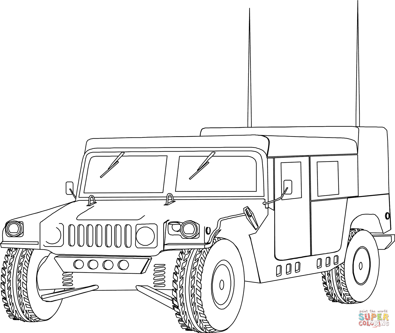 Army Vehicles Coloring Pages Free Coloring Pages