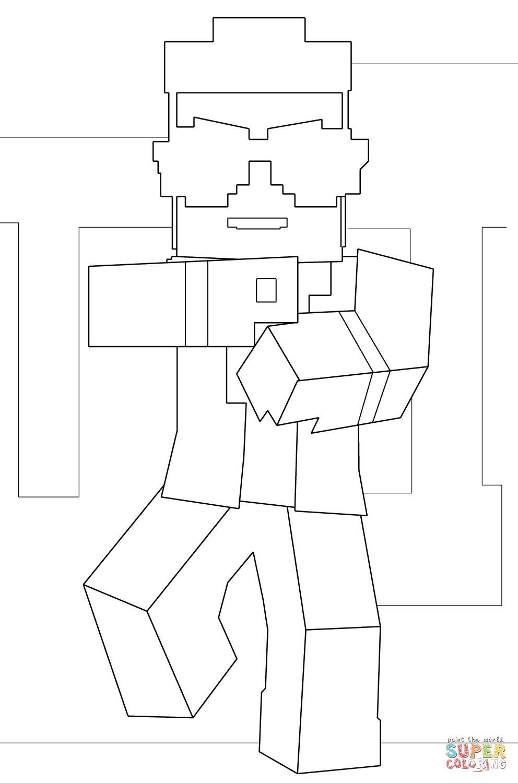 Minecraft Enderman Color Print
