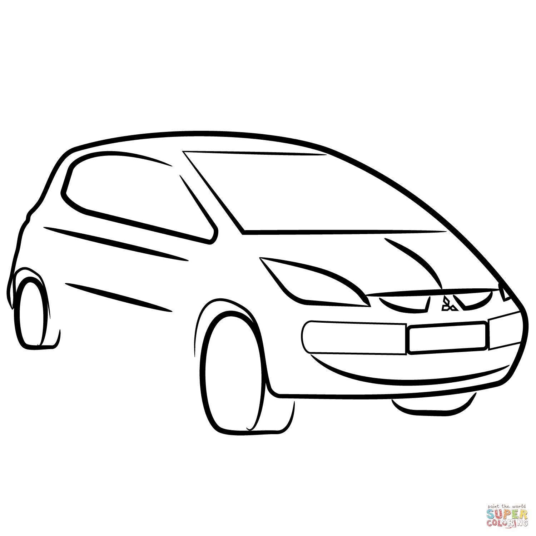 Dibujo De Mitsubishi Colt Para Colorear