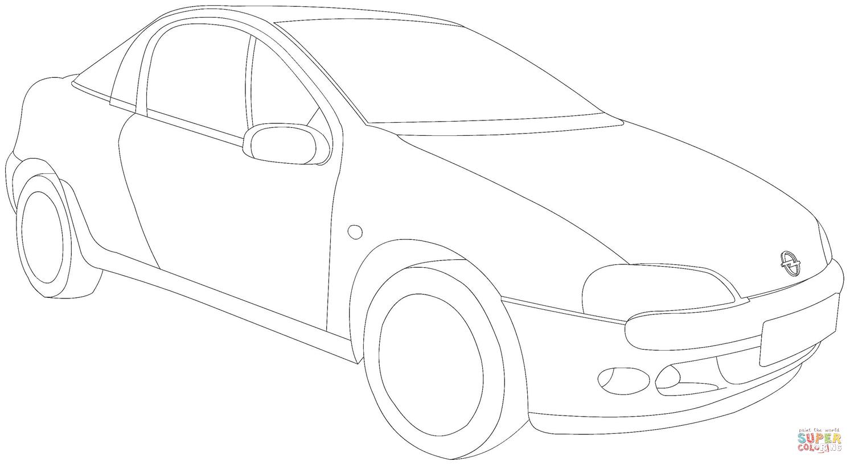 Opel Tigra Coloring Page