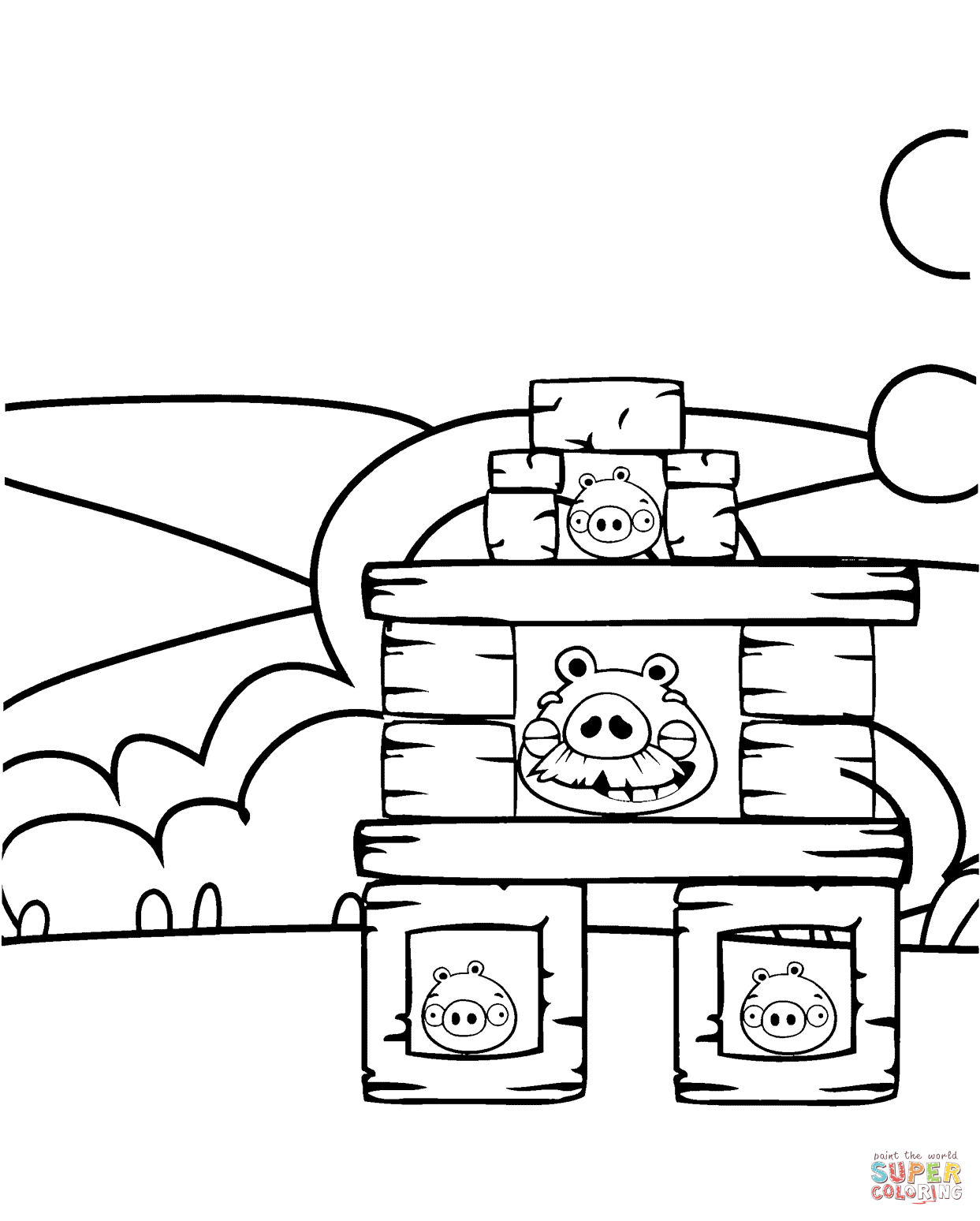 Pig S Fortifications Coloring Page