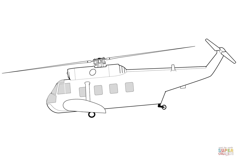 Ausmalbild Sikorsky Hh 52 Seaguard Hubschrauber