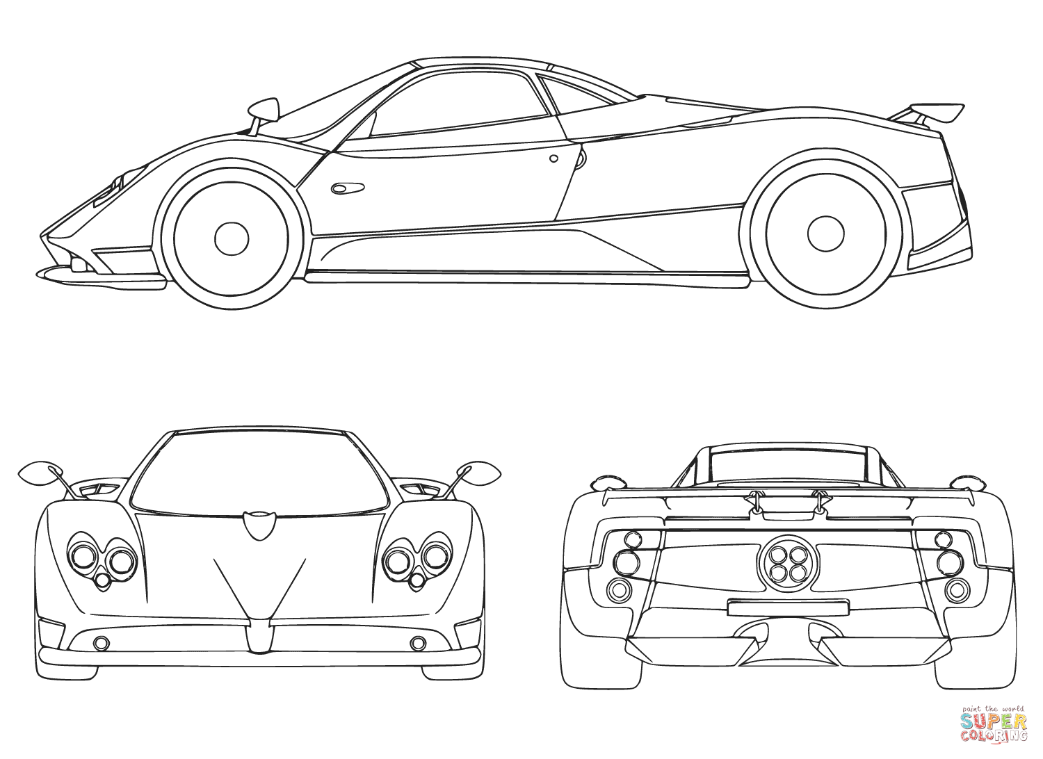 Sport Car Coloring Page Free Printable Coloring Pages