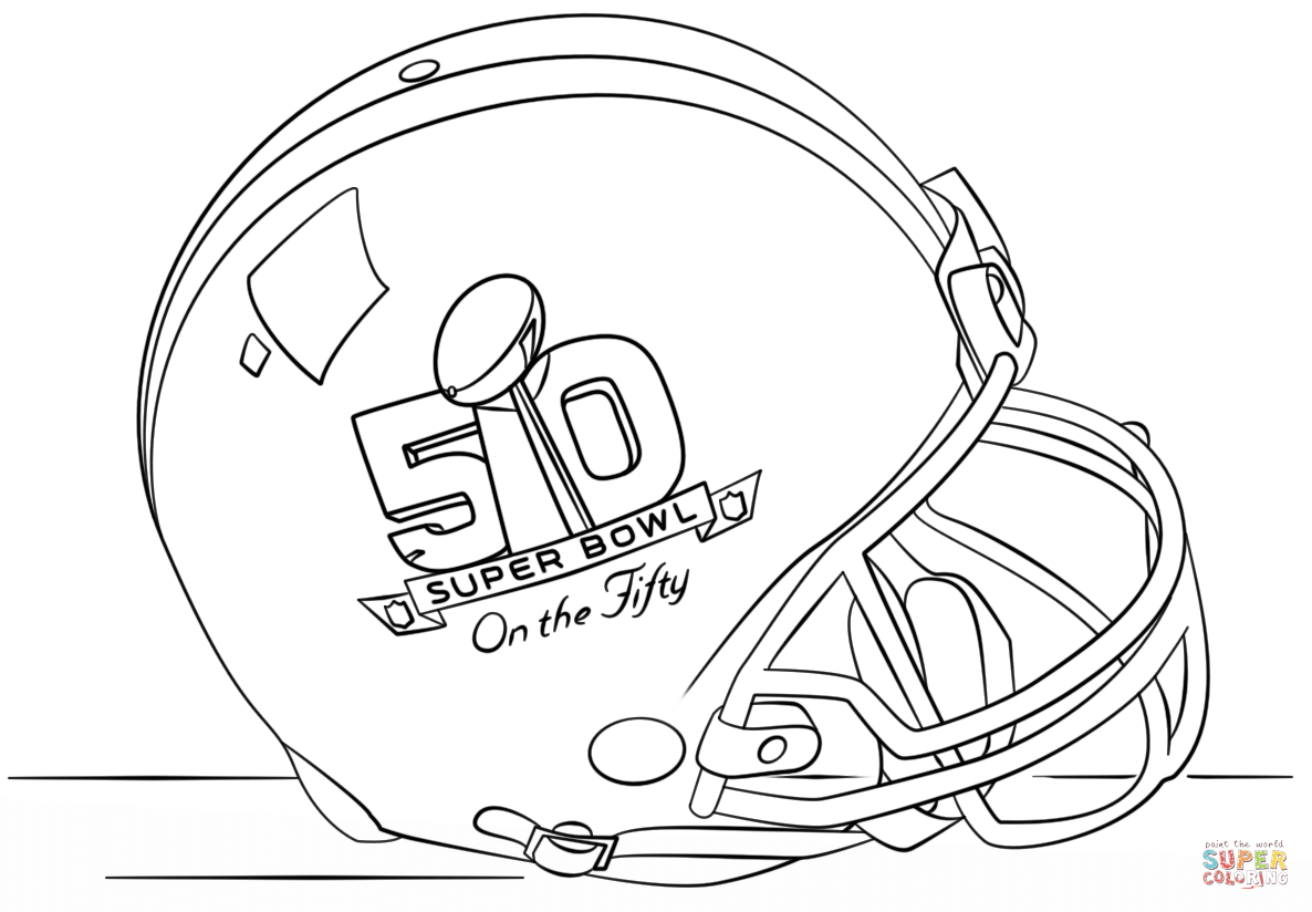 super bowl 2016 helmet coloring page free printable coloring pages