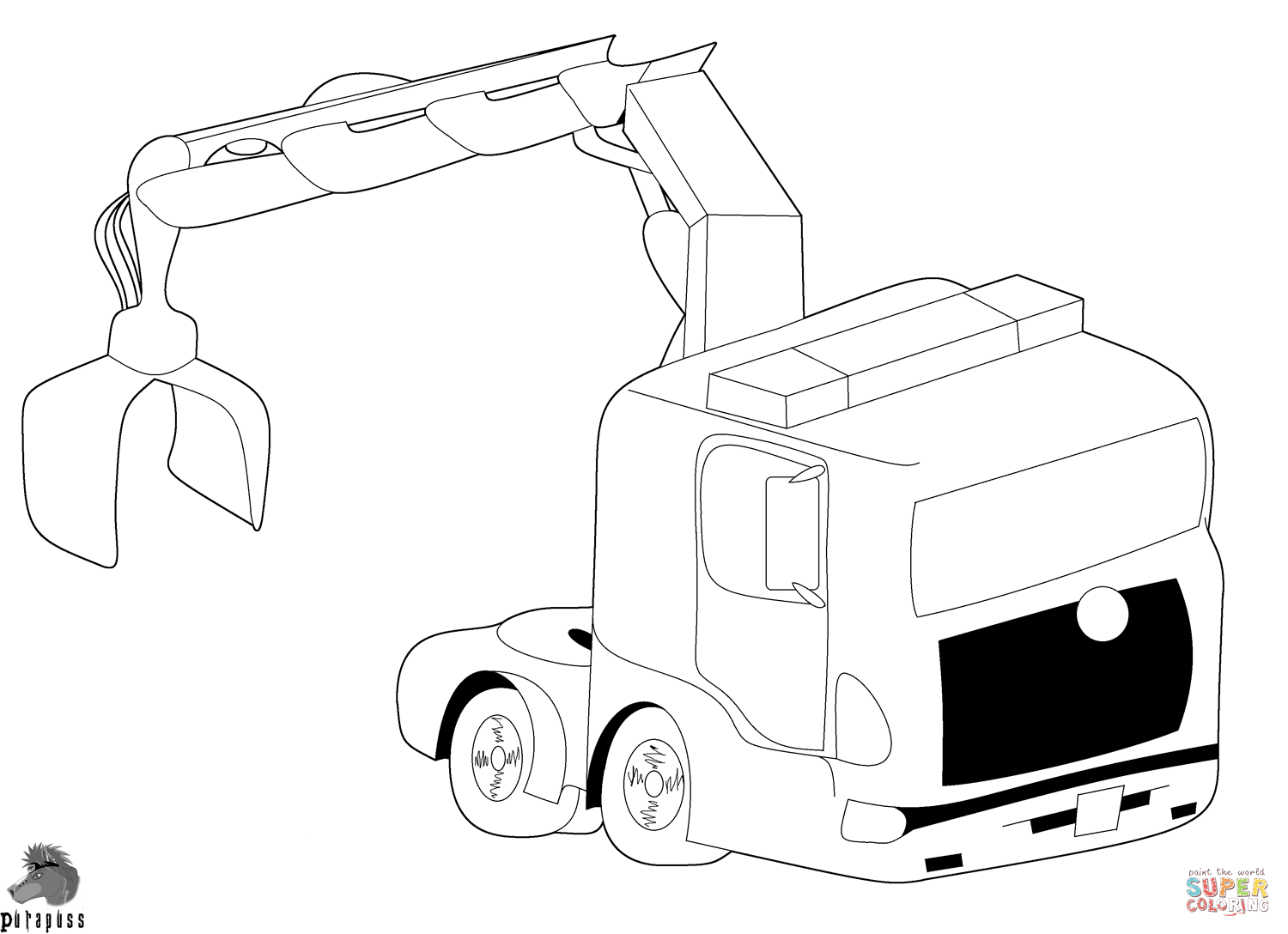 trucks coloring pages free coloring pages