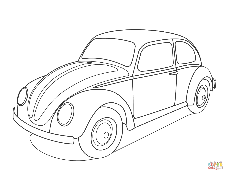 Ausmalbild Volkswagen Kafer