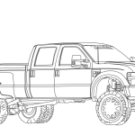 2012 Ford F350 Dually Lifted Coloring Page Free Printable Coloring Pages