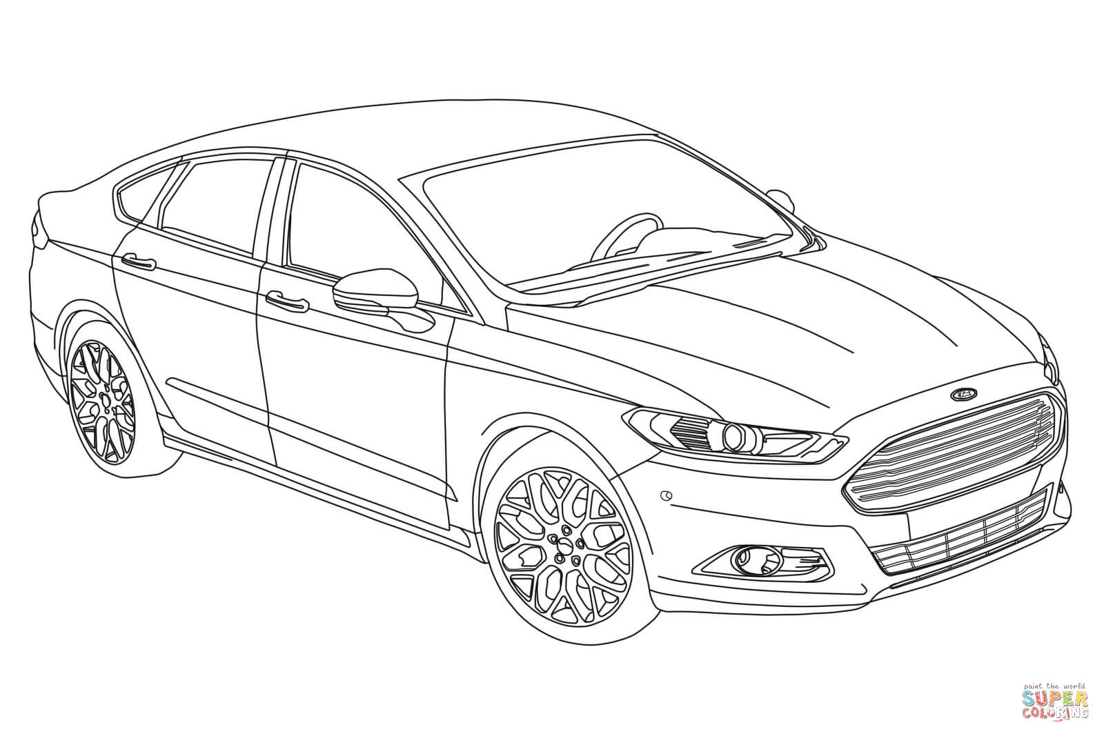 Ford Fusion Coloring Page