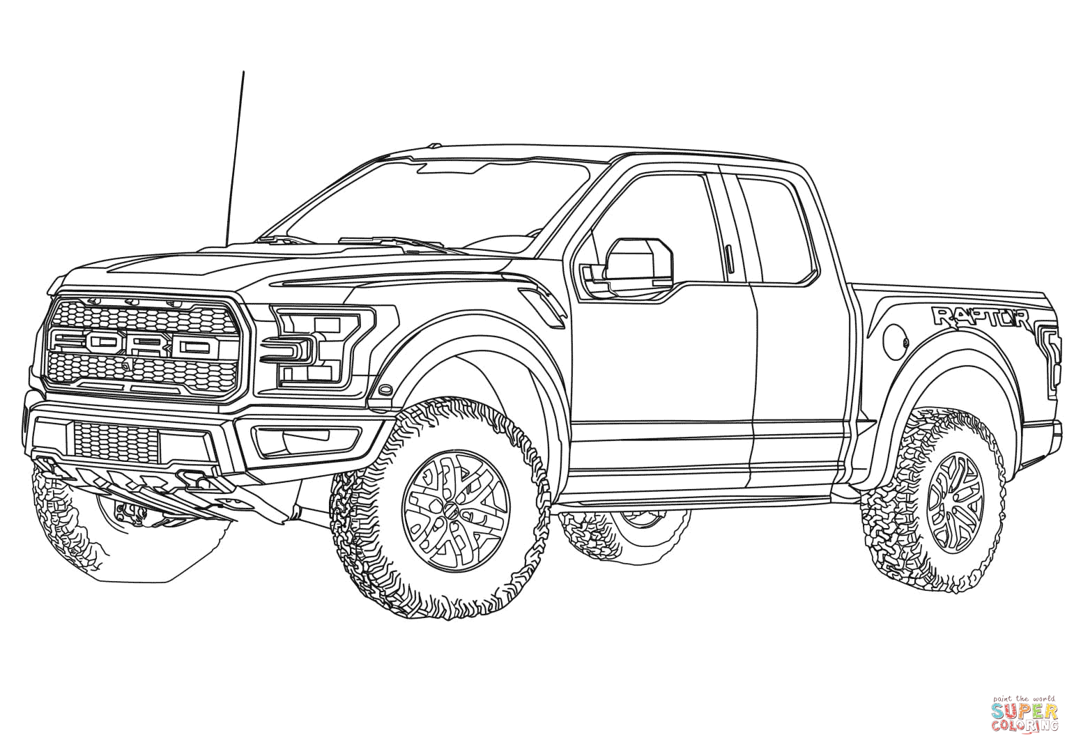 2017 Ford F 150 Raptor Coloring Page Free Printable Coloring Pages