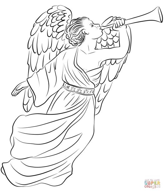 angel gabriel coloring page coloring page cartoon
