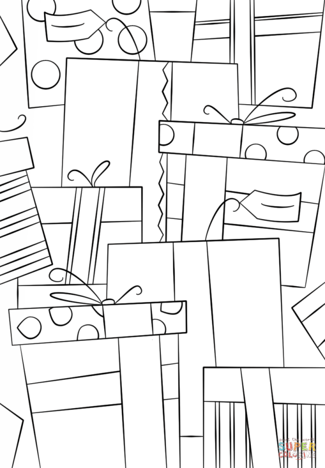 Boxing Day Pattern coloring page  Free Printable Coloring Pages
