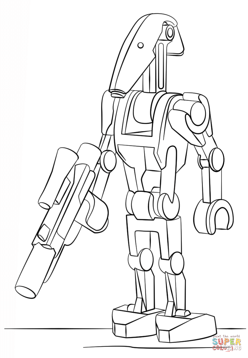 lego battle droid coloring page free printable coloring pages