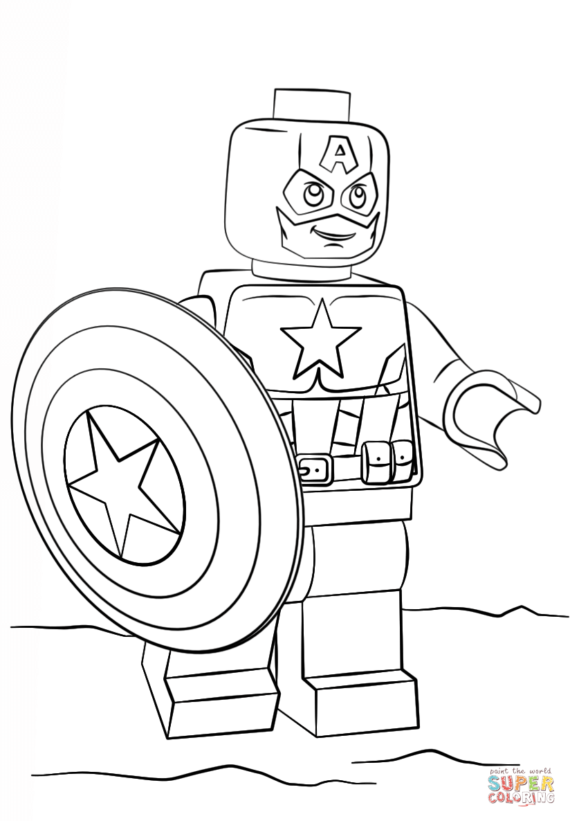 captain america coloring page free printable coloring