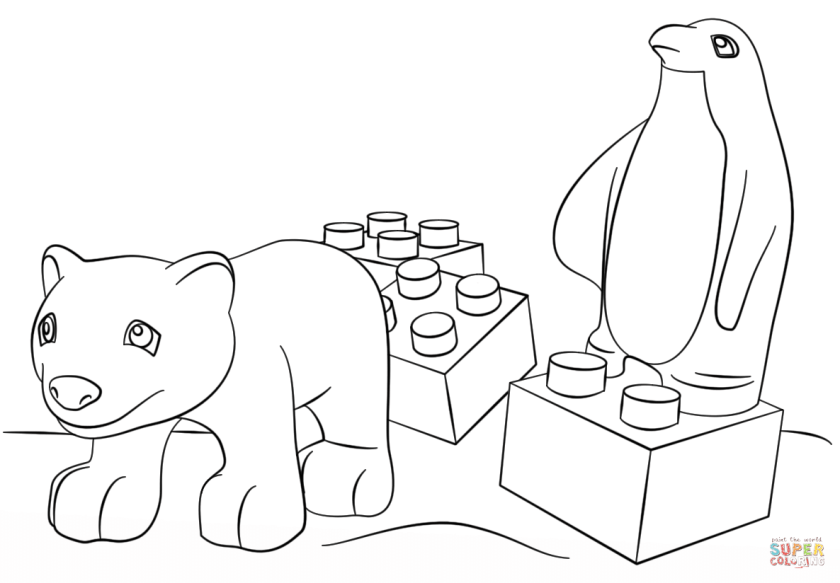 lego friends animals coloring page  free printable