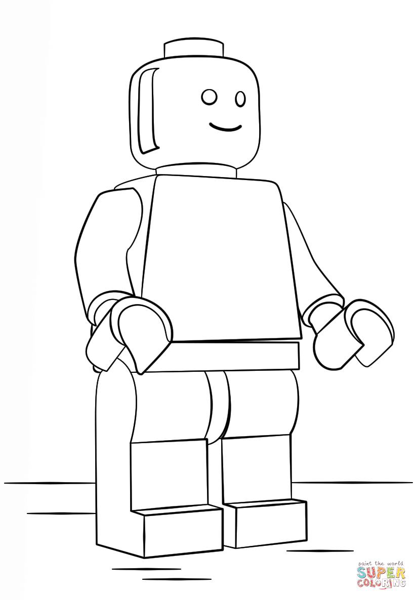 Lego Man Color Numbermanprintable Coloring Pages Free Download - lego character coloring pages
