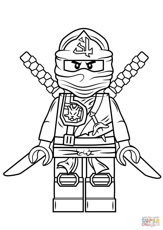 Free coloring pages lego ninjago - Lego Ninjago Green Ninja Coloring Page Free Printable Pages