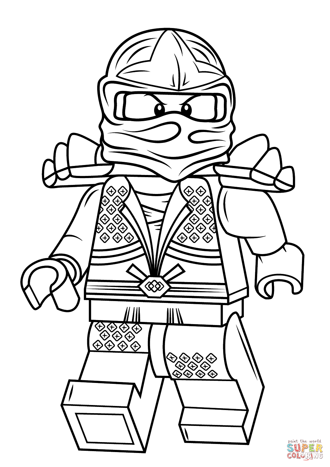 lego ninjago lloyd zx coloring page free printable coloring pages