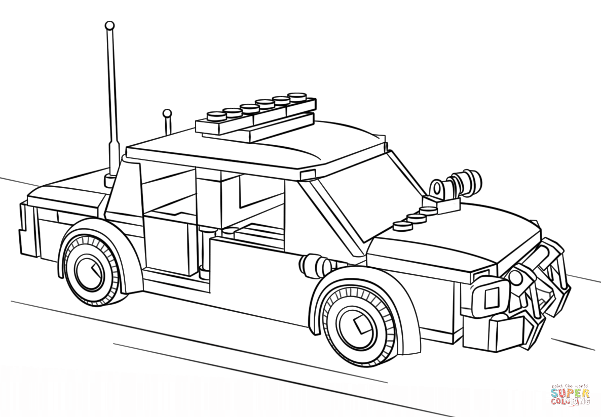 lego police car coloring page free printable coloring pages