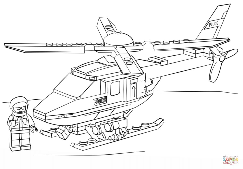 Kolorowanka Klocki Lego Helikopter