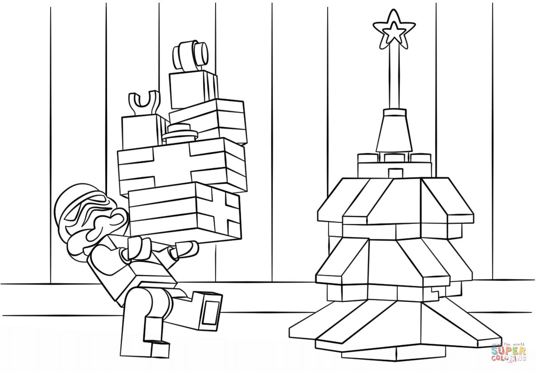 lego star wars clone christmas coloring page free printable