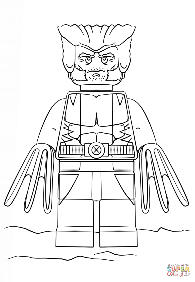 lego wolverine coloring page free printable coloring pages