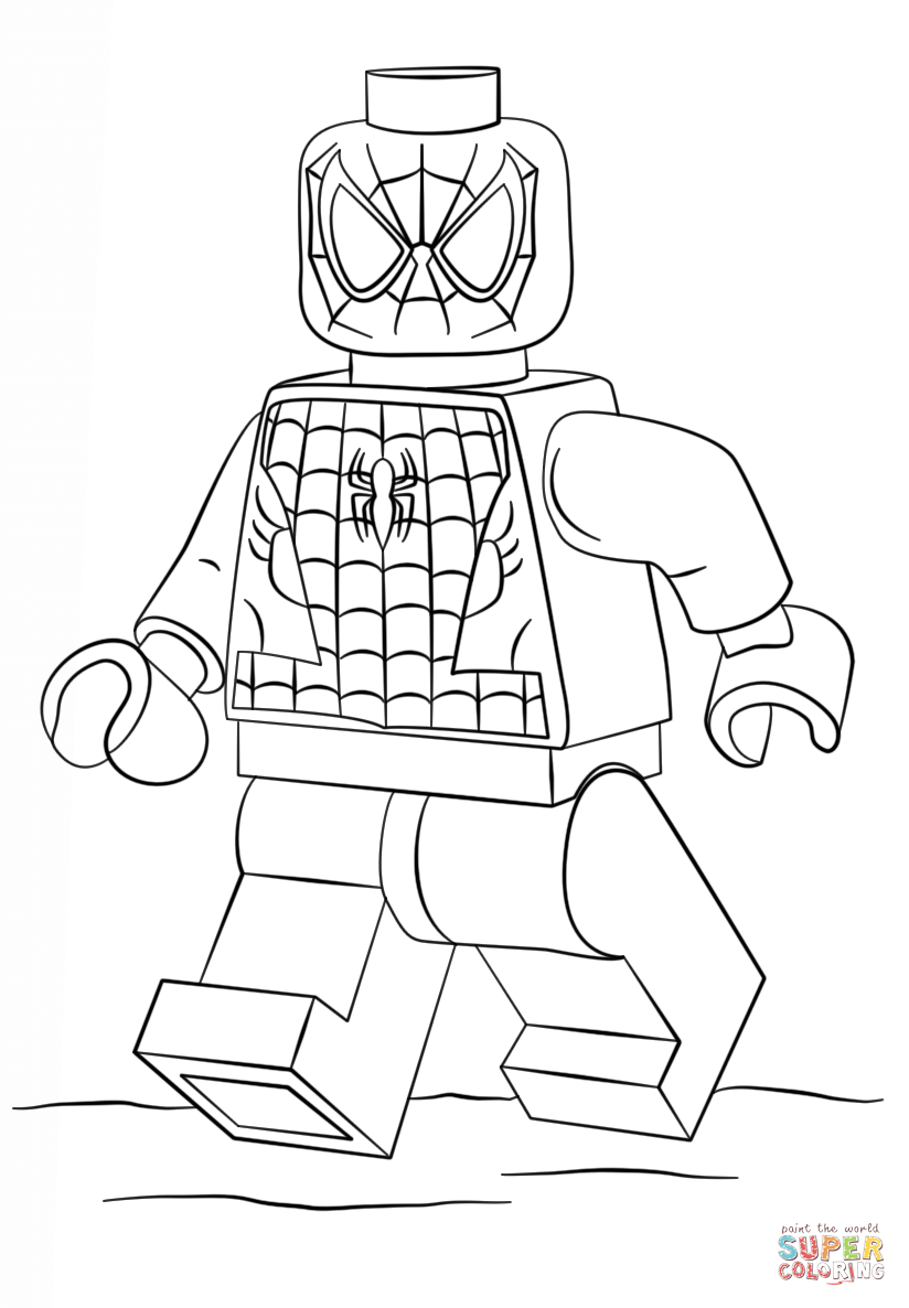 lego spiderman coloring page free printable coloring pages