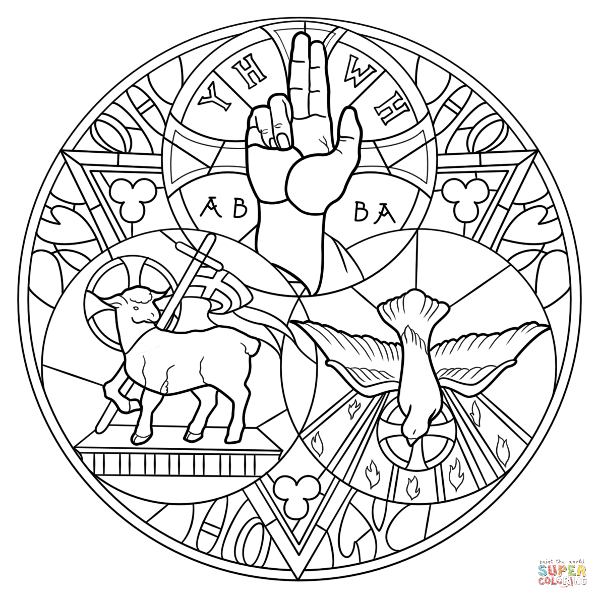 Holy Trinity Coloring Page