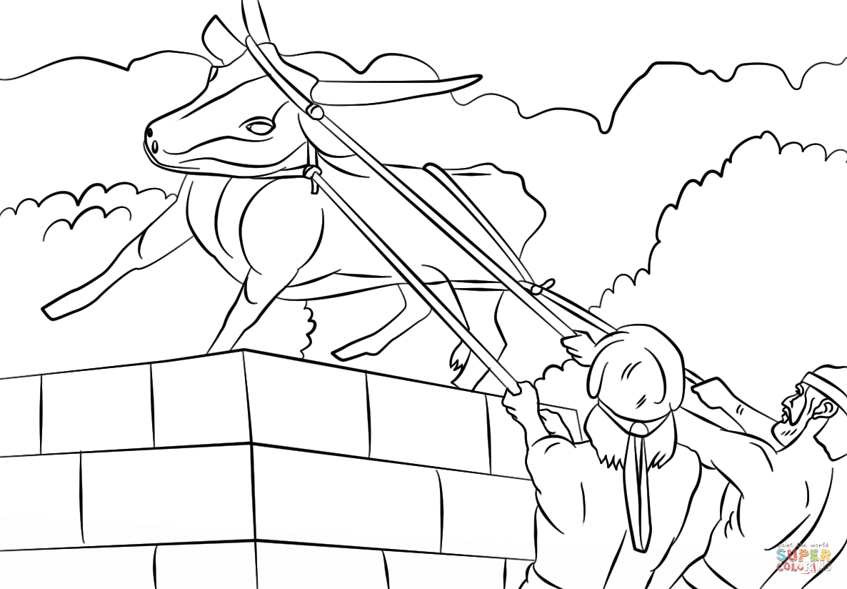 Josiah Destroyed The Golden Calf Coloring Page