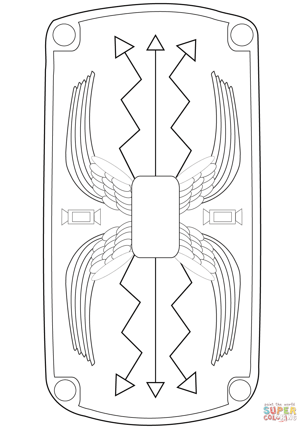 Roman Shield Coloring Page
