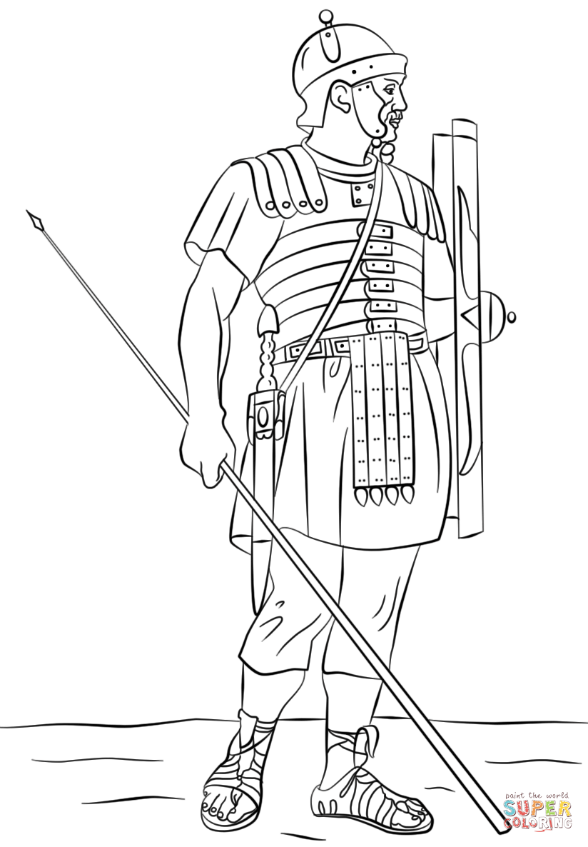 roman legionary soldier coloring page free printable coloring pages