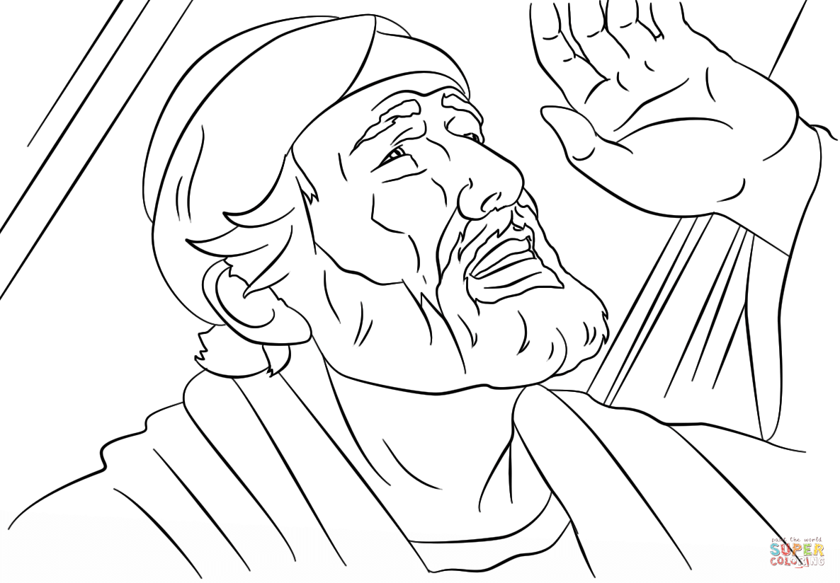 Saul To Paul Conversion Coloring Page