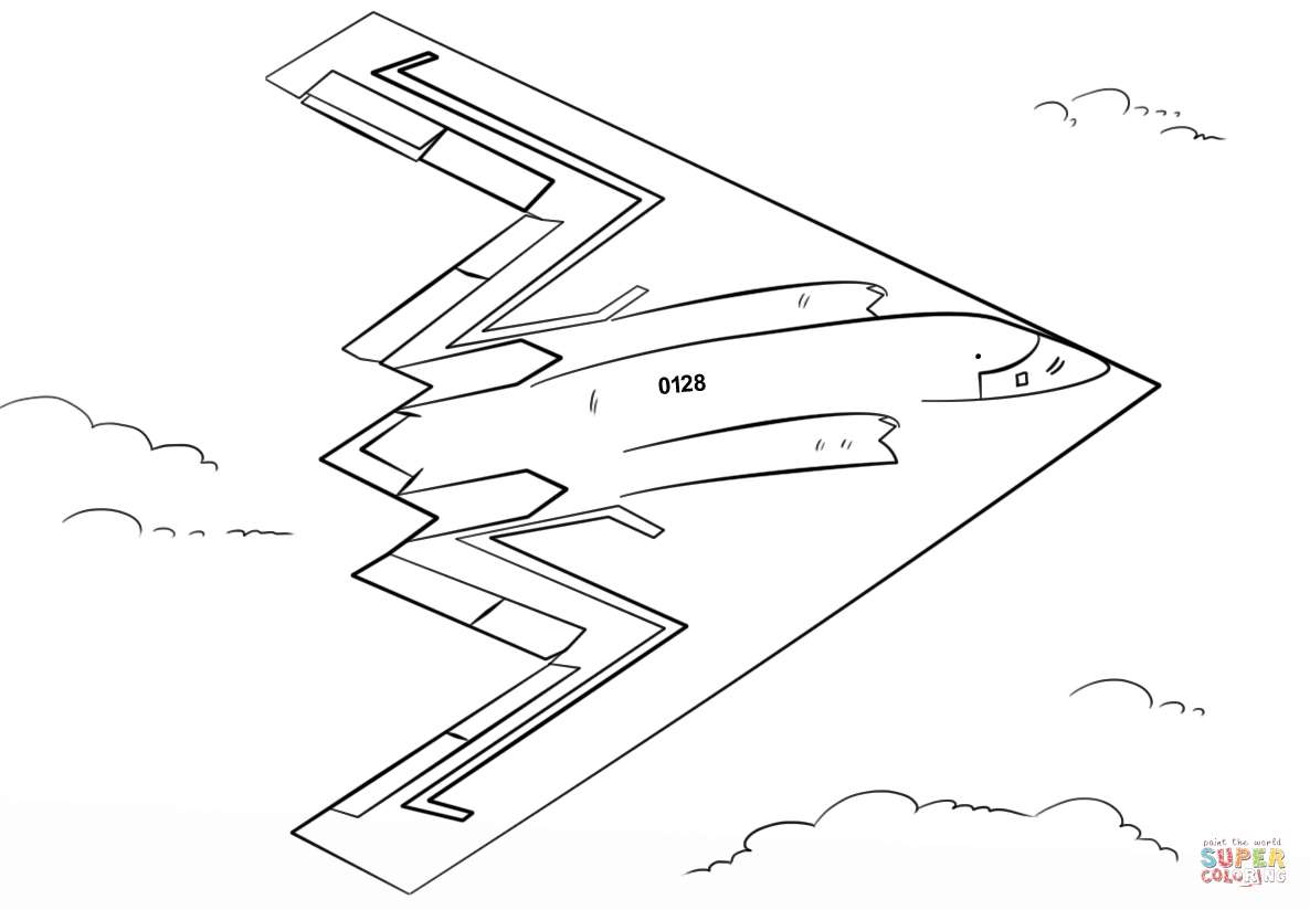B 17 Coloring Pages