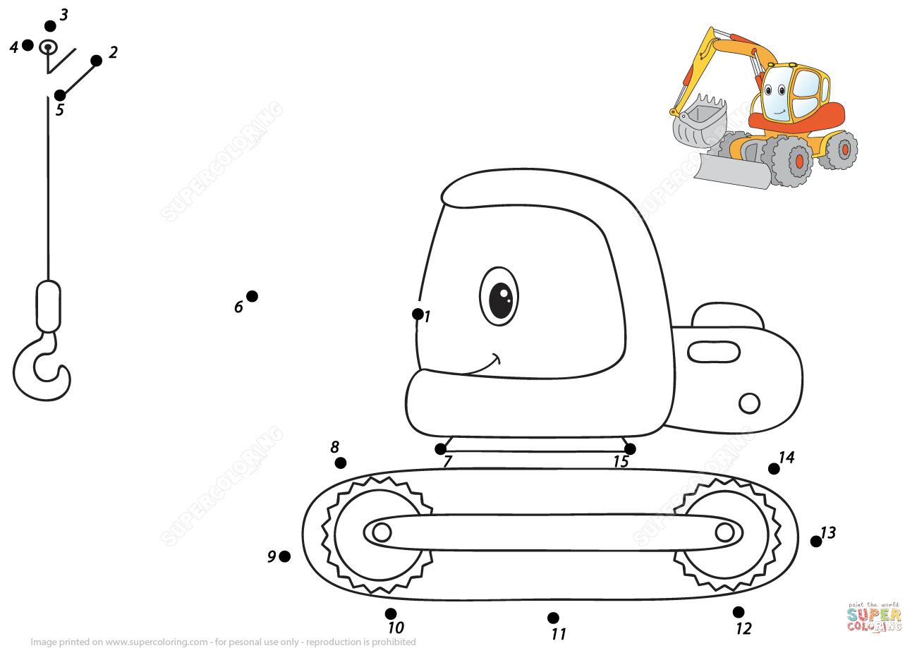 Fire Truck Dot To Dot Worksheet