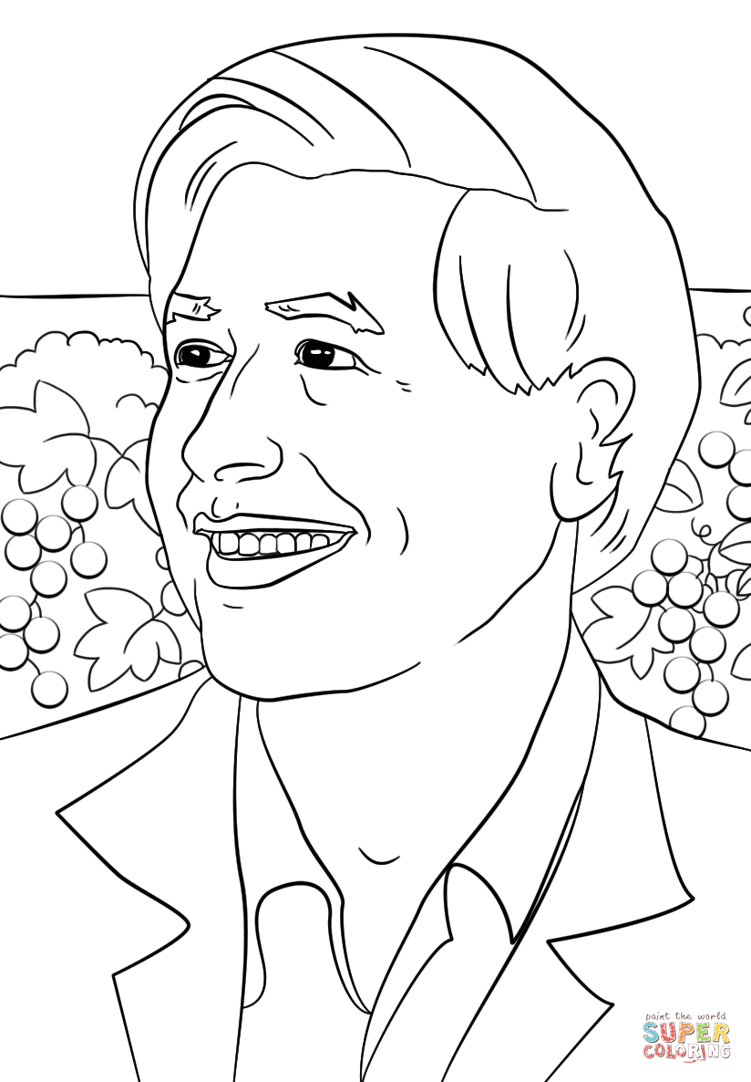 Cesar Chavez Coloring Page Free Printable Coloring Pages